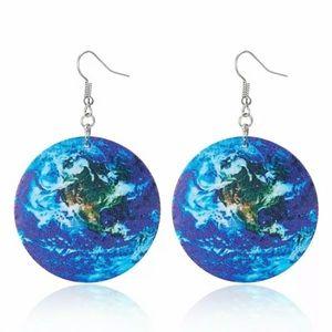 Globe Styrofoam Earrings